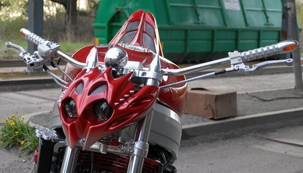 Стрит фара для мотоцикла своими руками 68